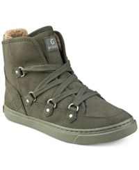 G By Guess Otter Lace Up Hiker Sneakers Women's Shoes Army Green