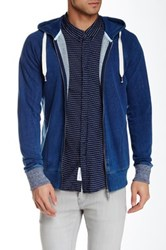 Native Youth Zip Front Hoodie Blue