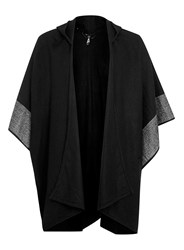 Topman Aaa Black Hooded Cape
