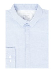 Selected Two Bow Shirt Light Blue