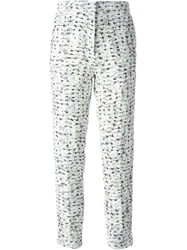 Rochas Cropped Boucle Trousers White