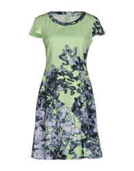 Blue Les Copains Short Dresses Light Green