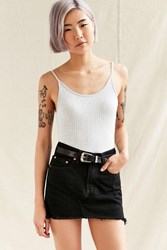 Urban Renewal Recycled Low Rise Dark Denim Mini Skirt Black