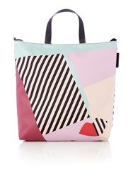 Lulu Guinness Lucy Multi Coloured Large Anna Doll Face Tote Bag Multi Coloured Multi Coloured