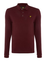 Lyle And Scott Long Sleeve Classic Claret