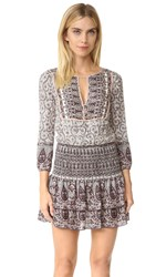 Veronica Beard Makai Printed Boho Dress Nude