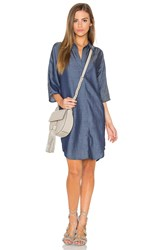 Line And Dot Ines Shirt Dress Blue