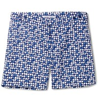 Frescobol Carioca Slim Fit Short Length Printed Swim Shorts Navy