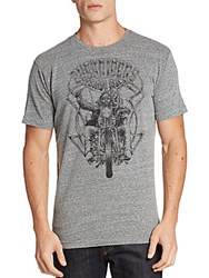 Affliction Easy Riders Graphic Tee Heather Grey