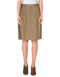 Agnona Knee Length Skirts Khaki