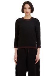 Marvielab Reversible Round Neck Sweater Black