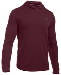 Under Armour Men's Waffle Thermal Hooded Shirt Dark Maroon