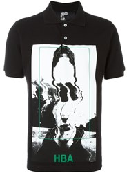 Hood By Air Picture Print Polo Shirt Black