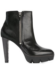 Vic Matie Lateral Zip Ankle Boots Black