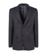 Officine Generale Glen Plaid Flannel Jacket Male Dark Grey