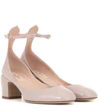 Valentino Tan Go Patent Leather Pumps Brown