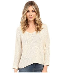 Billabong Way Back When Sweater White Cap Women's Sweater Blue