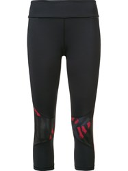 Alala 'Red Bolt Stripe' Leggings Black
