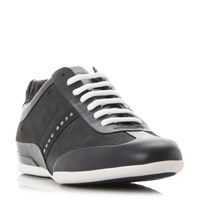 Hugo Boss Space Select Suede Wingtip Trainers Navy