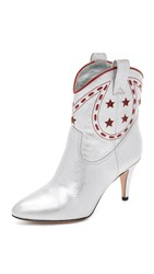 Marc Jacobs Georgia Cowboy Booties Silver