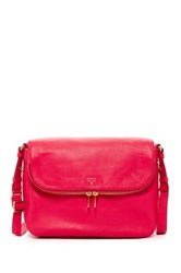 Fossil Preston Leather Flap Handbag Pink