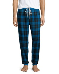 Penguin Flannel Pajama Pants W Plaid Print Blue Park