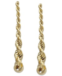Macy's Graduated Rope Linear Earrings In 14K Gold Yellow Gold
