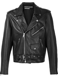 Enfants Riches Deprimes Cropped Biker Jacket Black