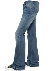 Roberto Cavalli Flared Stretch Cotton Denim Jeans