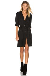 Atm Anthony Thomas Melillo Belted Shirt Dress Black