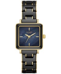 Kate Spade New York Women's Washington Square Black Ceramic And Gold Tone Stainless Steel Bracelet Watch 25Mm Ksw1203