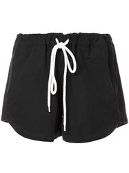 Bassike Canvas Mini Shorts Black