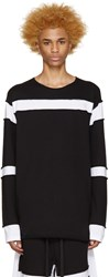 Ueg Black And White Sliced Pullover
