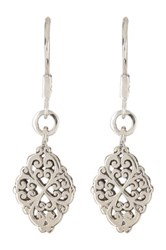 Lois Hill Sterling Silver Tapered Drop Earrings No Color