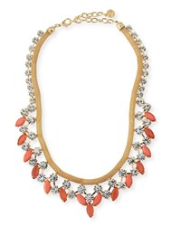 Rj Graziano R.J. Graziano Crystal Statement Necklace Golden Coral