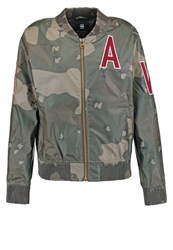 G Star Gstar Sports Zip Aw Bomber L S Summer Jacket Dark Bronze Green Turtle Green Oliv