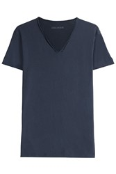 Zadig And Voltaire Monas Mc Overdyed T Shirt Blue