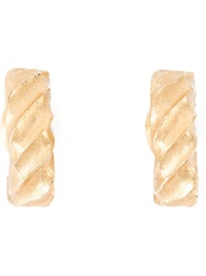 Givenchy Vintage Chunky Hoop Earrings Metallic