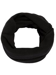 Label Under Construction Loop Scarf Black