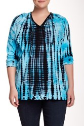 Balance Shiva Marika Icon Tie Dye Hoodie Plus Size Blue