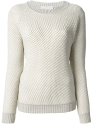 Stephan Schneider Waffle Weave Knit Sweater Nude And Neutrals