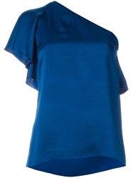 Lanvin One Shoulder Top Blue