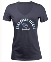 5Th And Ocean Women's Tennessee Titans Checkdown Le T Shirt Navy