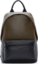 Mcq By Alexander Mcqueen Military Green Colorblock Backpack