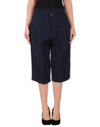 Adele Fado 3 4 Length Shorts Dark Blue