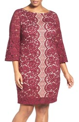 Gabby Skye Plus Size Women's Lace Sheath Dress