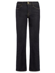 Frame Le High Straight Leg Cropped Jeans Indigo