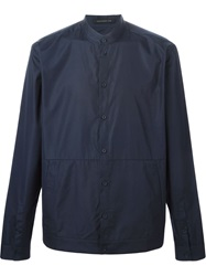 Christopher Kane Band Collar Shirt Blue