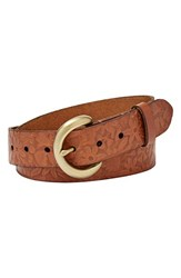Women's Fossil Floral Floral Embossed Leather Belt