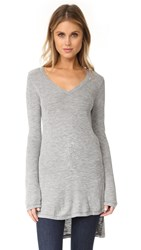 Splendid Pacific Grove High Low Tunic Heather Grey